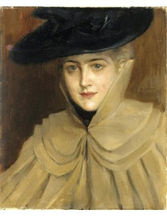 Tytuł: Portrait of a Young Woman, Autor: Albert Edelfelt