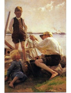 Tytuł: Shipbuilder, Autor: Albert Edelfelt