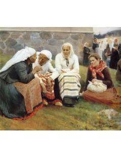 Tytuł: The gossip, Autor: Albert Edelfelt