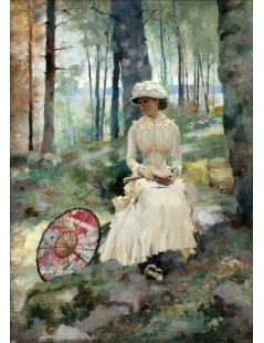 Tytuł: Under the Birches, Autor: Albert Edelfelt