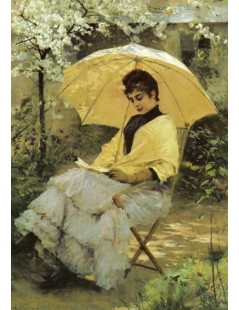 Tytuł: Woman and Parasol, Autor: Albert Edelfelt