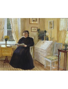 Tytuł: Woman Reading in the Salon Room, Autor: Albert Edelfelt