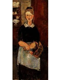 Tytuł: The Pretty Housewife, Autor: Amadeo Modigliani