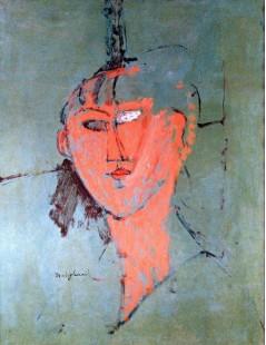 Tytuł: The Red Head, Autor: Amadeo Modigliani
