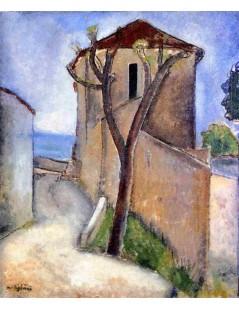Tytuł: Tree and Houses, Autor: Amadeo Modigliani