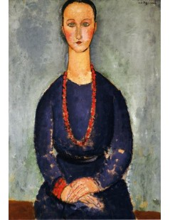 Tytuł: Woman in a Red Necklace, Autor: Amadeo Modigliani