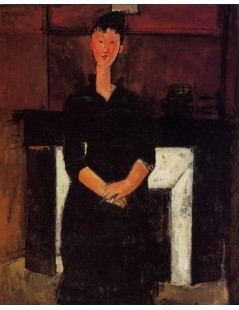 Tytuł: Woman Seated in front of a Fireplace, Autor: Amadeo Modigliani
