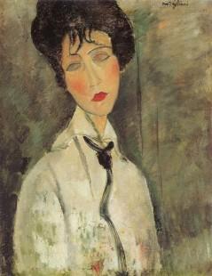 Tytuł: Woman with a Black Tie, Autor: Amadeo Modigliani