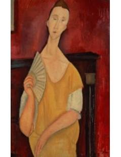 Tytuł: Woman with a Fan, Autor: Amadeo Modigliani