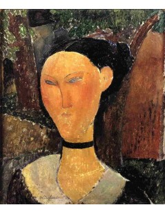 Tytuł: Woman with Velvet Ribbon, Autor: Amadeo Modigliani