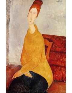 Tytuł: Yellow Sweater, Autor: Amadeo Modigliani
