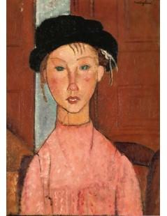 Tytuł: Young Girl in Beret, Autor: Amadeo Modigliani