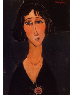 Tytuł: Young Girl Wearing a Rose, Autor: Amadeo Modigliani