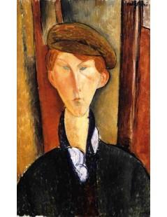 Tytuł: Young Man with Cap, Autor: Amadeo Modigliani