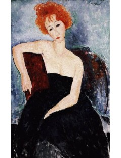 Tytuł: Young Redhead in an Evening Dress, Autor: Amadeo Modigliani