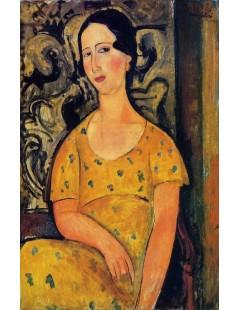 Tytuł: Young Woman in a Yellow Dress, Autor: Amadeo Modigliani