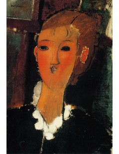 Tytuł: Young Woman with a Small Ruff, Autor: Amadeo Modigliani