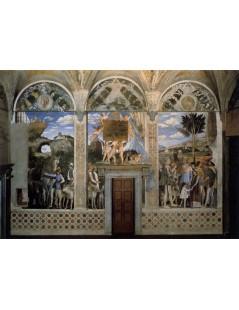 Tytuł: Arrival of Cardinal Francesco Gonzaga, Autor: Andrea Mantegna