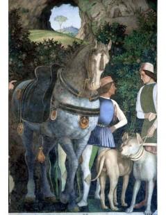 Tytuł: Arrival of Cardinal Francesco Gonzaga (detail), Autor: Andrea Mantegna
