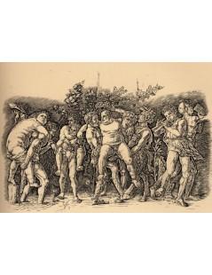Tytuł: Bacchanal with Silenus, Autor: Andrea Mantegna