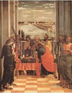 Tytuł: Death of the Virgin, Autor: Andrea Mantegna