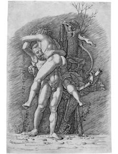 Tytuł: Hercules and Antaeus, Autor: Andrea Mantegna