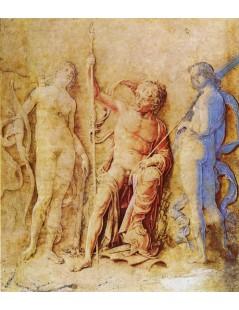 Tytuł: Mars, Venus, and Diana, Autor: Andrea Mantegna