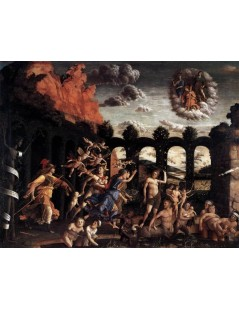 Tytuł: Pallas Expelling the Vices from the Garden of Virtue, Autor: Andrea Mantegna
