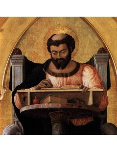 Tytuł: San Luca Altarpiece (detail), Autor: Andrea Mantegna
