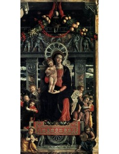 Tytuł: San Zeno Polyptych (central panel), Autor: Andrea Mantegna