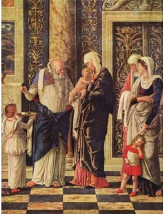 Tytuł: The Circumsicion of jesus, detail, Autor: Andrea Mantegna