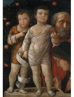 Tytuł: The Holy Family with St John, Autor: Andrea Mantegna