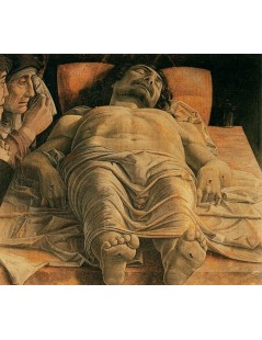 Tytuł: The Lamentation over the Dead Christ, Autor: Andrea Mantegna