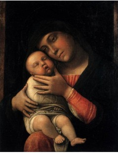 Tytuł: Virgin and Child, Autor: Andrea Mantegna