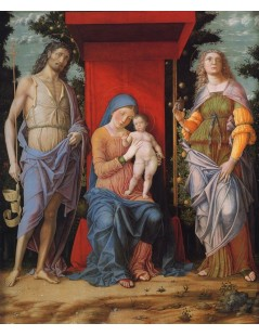 Tytuł: Virgin and Child with the Magdalen and St John the Baptist, Autor: Andrea Mantegna