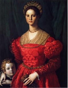 Tytuł: A Young Woman and her Little Boy, Autor: Agnolo Bronzino