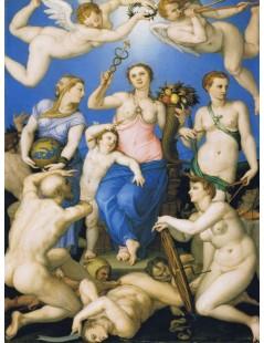 Tytuł: Allegory of Happiness, Autor: Agnolo Bronzino