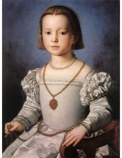 Tytuł: Bia, The Illegitimate Daughter of Cosimo I de Medici, Autor: Agnolo Bronzino