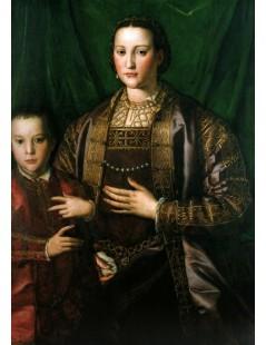 Tytuł: Eleonora di Toledo, Duchess of Florence, with her son Francesco,, Autor: Agnolo Bronzino