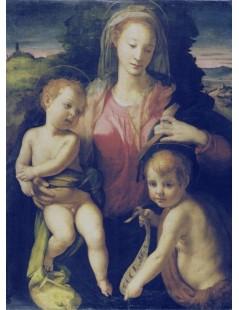 Tytuł: Madonna and child with Saint John, Autor: Agnolo Bronzino