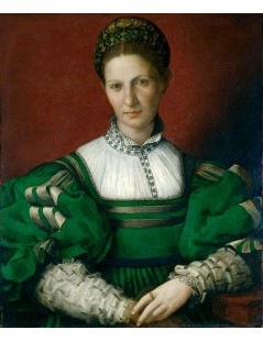 Tytuł: Portrait of a Lady in Green, Autor: Agnolo Bronzino