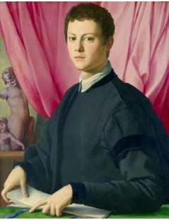 Tytuł: Portrait of a Young Man, Autor: Agnolo Bronzino