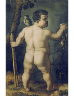 Tytuł: Portrait of the dwarf Morgante (from the back), Autor: Agnolo Bronzino
