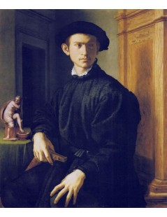 Tytuł: Young Man with a Lute, Autor: Agnolo Bronzino