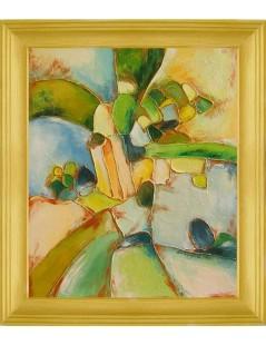 Tytuł: Abstrakcja zielona, Autor: Emilia Czupryńska