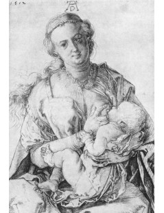 Tytuł: The Virgin Nursing the Child, Autor: Albrecht Durer