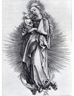 Tytuł: The Virgin On The Crescent, Autor: Albrecht Durer