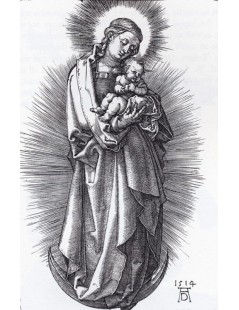 Tytuł: The Virgin On The Crescent With A Diadem, Autor: Albrecht Durer