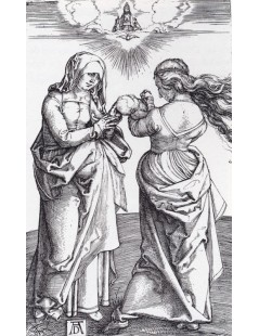 Tytuł: The virgin With The Infant Christ And St. Anne, Autor: Albrecht Durer