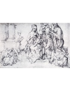 Tytuł: The Virgin With Two Angels And Four Saints, Autor: Albrecht Durer